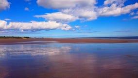Druridge-Bucht-Strand - Northumberland Lizenzfreie Stockbilder