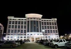Drury placu hotel przy nocą Fotografia Royalty Free