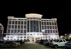 Drury Plaza Hotel at Night. Drury Plaza Hotel is an American chain of hotels, motels and restaurants located primarily throughout the United States Royalty Free Stock Photography