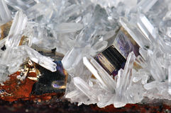 Druse of quartz Stock Images