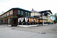 Druskininkai är en brunnsortstad på den Neman floden i sydliga Litauen Royaltyfria Foton
