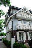 Druskininkai é uma cidade dos termas no rio de Neman em Lituânia do sul fotos de stock royalty free