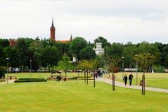Druskininkai é uma cidade dos termas no rio de Neman em Lituânia do sul foto de stock royalty free