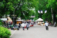 Druskininkai é uma cidade dos termas no rio de Neman em Lituânia do sul fotos de stock
