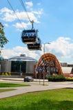 Druskininkai, Λιθουανία, Jule 30, 2017 τραμ κόλασης s πυλών αέρα Στοκ εικόνες με δικαίωμα ελεύθερης χρήσης