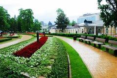 Druskininkai is een kuuroordstad op de Neman-Rivier in zuidelijk Litouwen Royalty-vrije Stock Foto