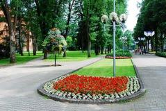 Druskininkai est une ville de station thermale sur la rivière de Neman en Lithuanie du sud Images libres de droits