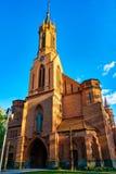 Druskininkai, Lituania - 10 de mayo de 2019: Iglesia de St Mary escapular fotos de archivo libres de regalías