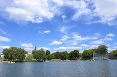 Druskonis lake in Druskininkai city Royalty Free Stock Images