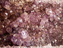 Druso de los cristales de la amatista Fotografía de archivo