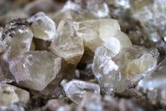 Druso de los crystalls de la calcita Fotografía de archivo