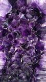Druso del cristal de la amatista Foto de archivo libre de regalías