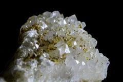 Druso do close up do cristal de rocha Imagem de Stock Royalty Free