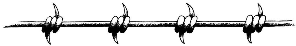 drut kolczasty Obrazy Royalty Free