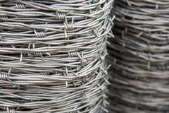 Drut kolczasty cewy Fotografia Stock