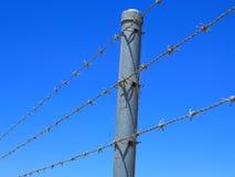 Drutu kolczastego ogrodzenie Zdjęcie Royalty Free