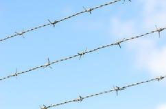 Drutu kolczastego ogrodzenie Obraz Royalty Free