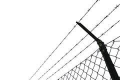 Drutu kolczasty ogrodzenie Obraz Stock