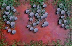 Druvor och krusidullar stock illustrationer