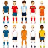Drużyna Narodowa. gracze piłki nożnej Obraz Royalty Free