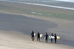 drużyna surfowania Fotografia Royalty Free