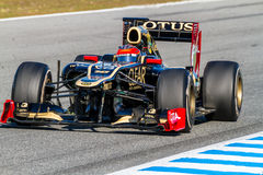 Drużynowy Lotosowy Renault F1, Romain Grosjean, 2012 Obrazy Stock