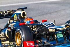 Drużynowy Lotosowy Renault F1, Romain Grosjean, 2012 Obrazy Royalty Free