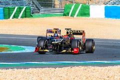 Drużynowy Lotosowy Renault F1, Romain Grosjean, 2012 Zdjęcia Royalty Free