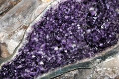 Druze Amethyst Photographie stock