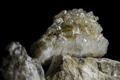 Druze of crystals rhinestone Stock Photos
