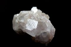 Druze of fluorite. On black Royalty Free Stock Photography
