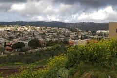 Druze-Stadt Stockfoto