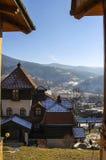 Drvengrad,塞尔维亚 免版税库存照片