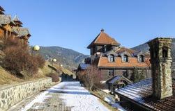 Drvengrad,塞尔维亚 免版税库存图片