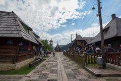 Drvengrad, Bosnien und Herzogovina Lizenzfreies Stockbild