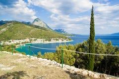 Drvenik, Strand Kroatiens, adriatisches Meer stockfotografie