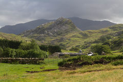 Drws y Coed Glacial Valley in Snowdonia. Royalty Free Stock Photos
