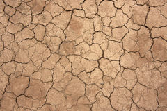 Dry. Top view shot of cracked soil Royalty Free Stock Photos