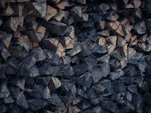 Dry firewood background. Dry and aged firewood background royalty free stock image