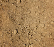 Dry agricultural brown soil Royalty Free Stock Images