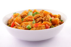 Dry Aloo gobi Indian and Nepali cuisine Royalty Free Stock Image