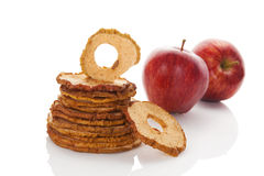 Dry apples. Royalty Free Stock Images