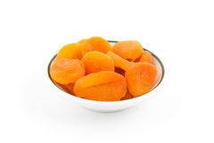 Dry apricot. Heap of fruits isolated Stock Image