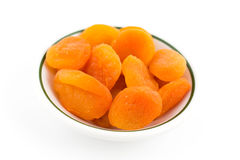 Dry apricot. Heap of fruits isolated Royalty Free Stock Photos