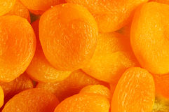 Dry apricots arranged Stock Photo
