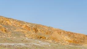 Dry and arid desert landscape in Aruba Royalty Free Stock Image
