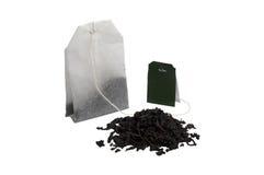Dry tea and tea bag. Dry aroma tea and tea bag Royalty Free Stock Image