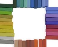 Dry art pastels frame Stock Image