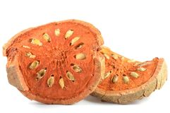Dry bael fruit Royalty Free Stock Photography