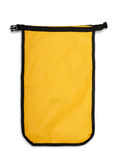 Dry Bag. Small yellow dry bag isolated on white stock image